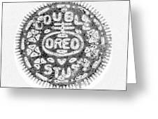 Oreo In Negetive Greeting Card