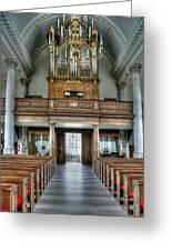 Organ At St Mary Of Aldermanbury Greeting Card by David Bearden