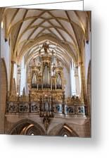 Organ Of The Gothic-baroque Church Of Maria Saal Greeting Card