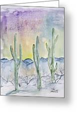 Organ Pipe Cactus Desert Southwestern Painting Poster Print Greeting Card