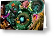 Organic Abstract 3 Greeting Card
