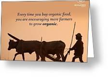 Organic Food Greeting Card