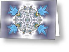 Organic Fractal Greeting Card
