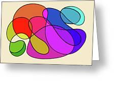 Organic Kaleidoscope Greeting Card