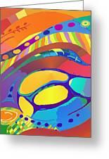 Organic Life Scan Or Cellular Light - Blue Greeting Card