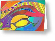 Organic Life Scan Or Cellular Light - Original, Square Greeting Card
