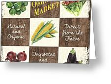 Organic Market Patch Greeting Card