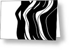 Organic No 5 Black And White Greeting Card by Menega Sabidussi