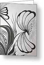 Organza Bloom Greeting Card