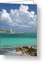 Orient Beach Catamaran Greeting Card