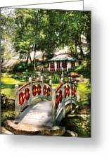 Orient - Bridge - The Bridge To The Temple  Greeting Card