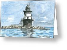 Orient Point Lighthouse Greeting Card