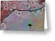 Oriental Cherry Greeting Card