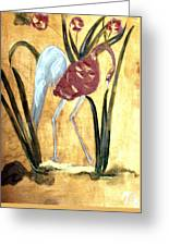 Oriental Crane Greeting Card