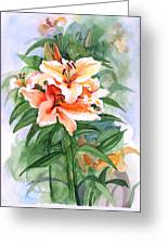 Oriental Lilies Greeting Card