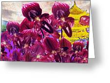 Oriental Orchid Garden Greeting Card