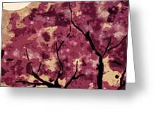 Oriental Plum Blossom Greeting Card