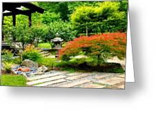 Oriental Scenic Greeting Card