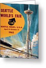 Original 1962 Seattle Worlds Fair Promotion Greeting Card