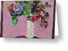 Original Bouquetaday Floral Painting 12x12 On Canvas, By Elaine Elliott, 59.00 Incl. Shipping Greeting Card