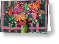 Original Bouquetaday Floral Painting By Elaine Elliott 59.00 Incl Shipping 12x12 On Canvas Greeting Card