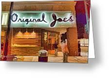 Original Joe's Dynamic  Greeting Card