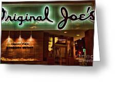 Original Joe's Night View  Greeting Card