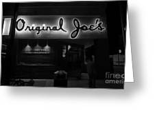 Original Joe's  San Jose Bw Greeting Card