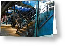 Original Old Stairs Greeting Card