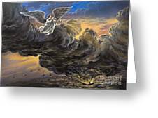 Fifth Trumpet Angel Greeting Card
