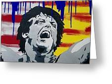 Original Painting Rocky Balboa Greeting Card