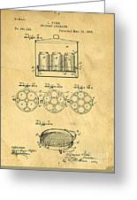 Original Patent For Canning Jars Greeting Card