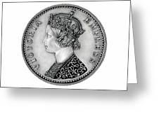 Original Silver Victoria Empress Greeting Card