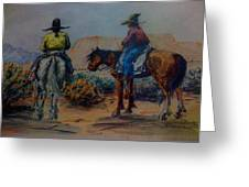 Original Western Artwork 23 Greeting Card