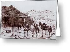 Original Western Artwork 5 Greeting Card