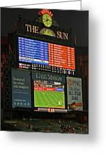 Orioles Game At Camden Yards Greeting Card