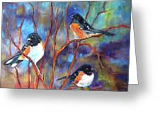 Orioles In Dogwood Greeting Card