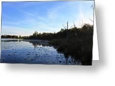 Orion's Lake At Sunset Greeting Card