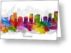 Orlando Florida Cityscape 13 Greeting Card