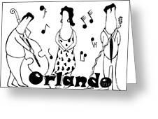 Orlando Jazz Greeting Card