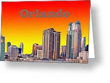Orlando Skyline Greeting Card