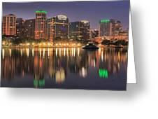 Orlando Sunrise Panorama Greeting Card