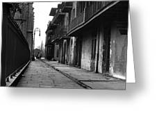 Orleans Alley Greeting Card