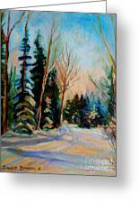 Ormstown Quebec Winter Road Greeting Card