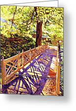 Ornamental Bridge Greeting Card by David Lloyd Glover
