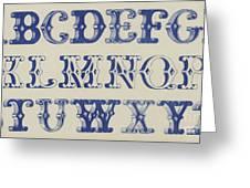 Ornamental Font Greeting Card