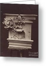 Ornamental Sculpture From The Paris Opera House (column Detail) Greeting Card
