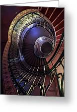 Ornamented Metal Spiral Staircase Greeting Card