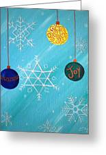 Ornaments And Snowflakes Greeting Card