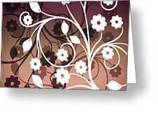 Ornametal 2 Purple Greeting Card